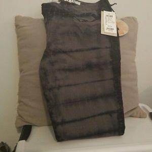 Black tie dye jeans